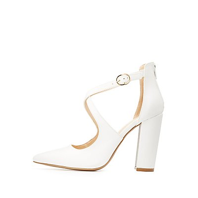 Qupid Strappy D'Orsay Pumps