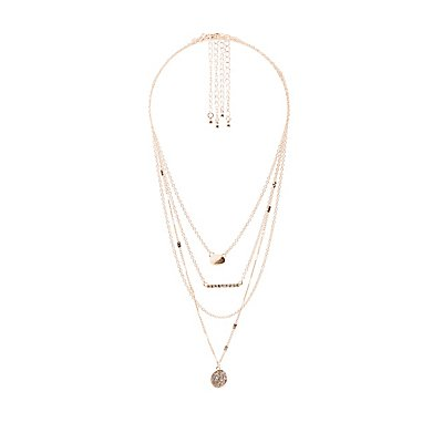 Crystal Layered Necklaces