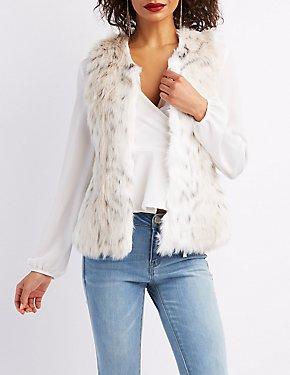 Spotted Leopard Faux Fur Vest