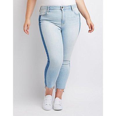 Plus Size Cello Colorblock Jeans