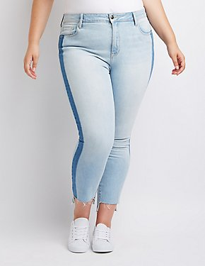 Plus Size Cello Colorblock Jeans