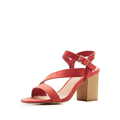 Strappy Block Heel Sandals by Charlotte Russe