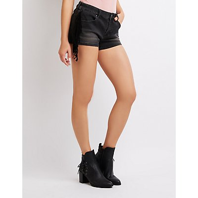 Refuge Fringe Denim Shorts