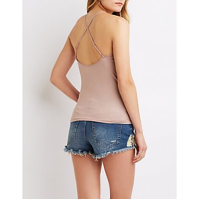 Strappy Back Scoop Neck Cami