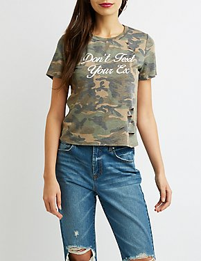 Don't Text Your Ex Camo Tee