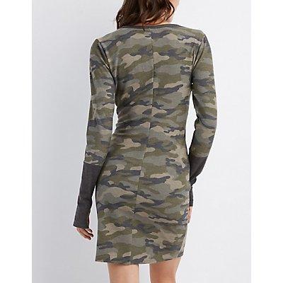 Camo Bodycon Dress