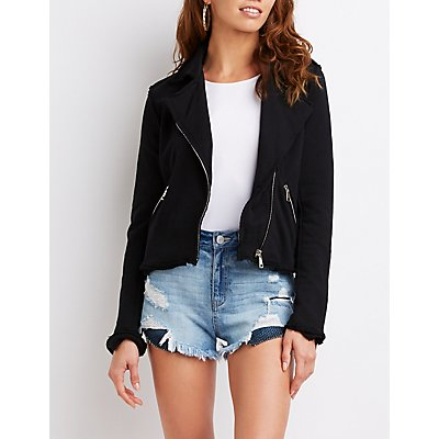 French Terry Moto Jacket