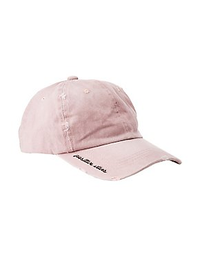 Washed Positive Vibes Baseball Hat