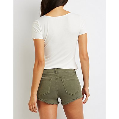 Refuge Shortie Denim Shorts