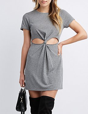 Cut-Out Knotted Dress
