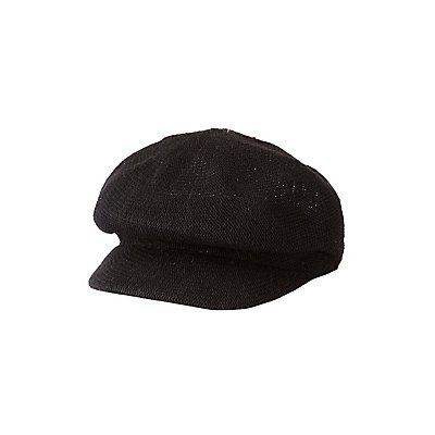 Woven Newsboy Hat