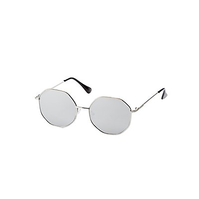 Oversized Metal Round Sunglasses