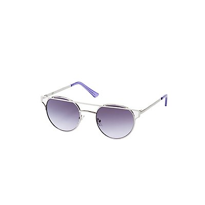 Metal Brow Bar Cateye Sunglasses