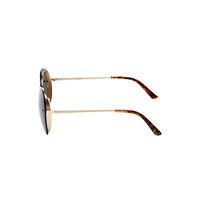 Oversize Rimless Square Sunglasses