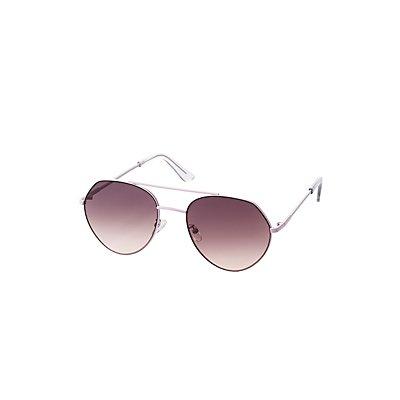 Classic Metal Aviator Sunglasses