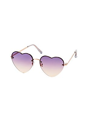 Metal Heart Shaped Sunglasses