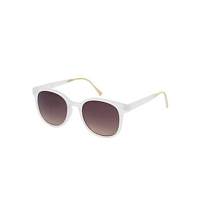 Frosted Round Sunglasses