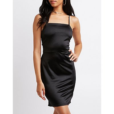 Strappy Caged Back Bodycon Dress