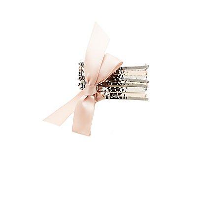 Hammered Bangle Bracelets - 10 Pack