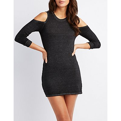 Cold Shoulder Knit Dress