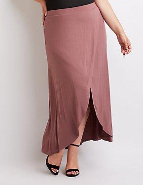 Plus Size Wrap Maxi Skirt