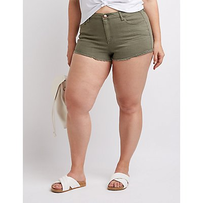 Plus Size Refuge Shortie Denim Shorts