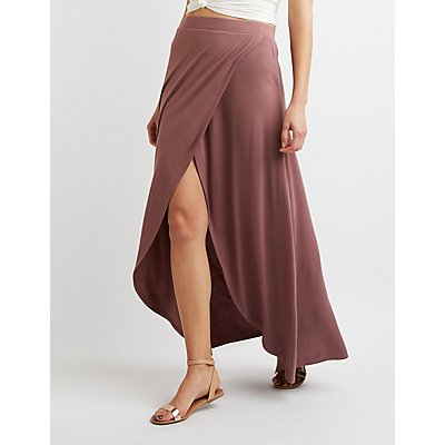 Wrap Slit Maxi Skirt