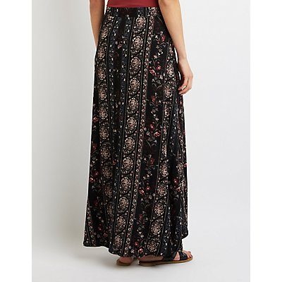 Floral & Paisley Maxi Wrap Skirt