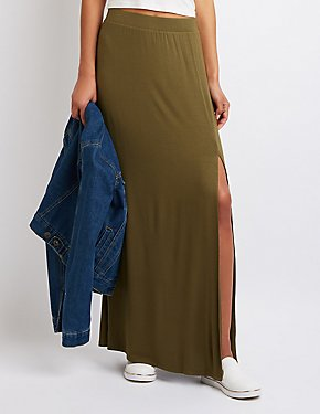 Single Slit Maxi Skirt