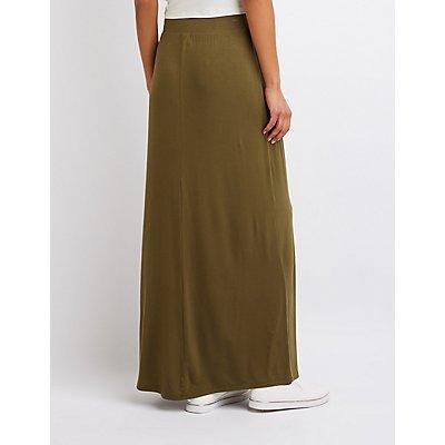 Single Slit Maxi Skirt