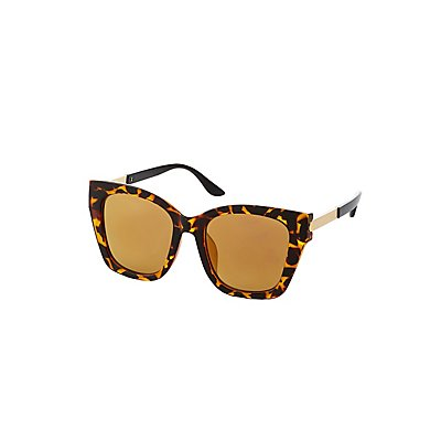 Tortoise Oversized Square Sunglasses