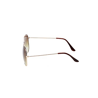 Classic Metal Aviator Sunglasses