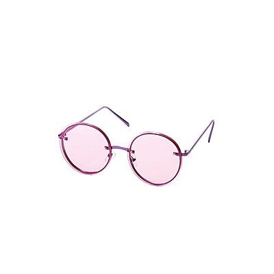 Rimless Round Sunglasses