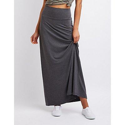Jersey Knit Maxi Skirt