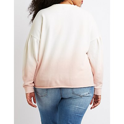 Plus Size Ombre Pullover Sweater
