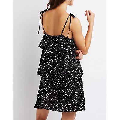 Polka Dot Tiered Ruffle Dress