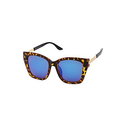 Square Tortoise Sunglasses at Charlotte Russe in Cypress, TX | Tuggl