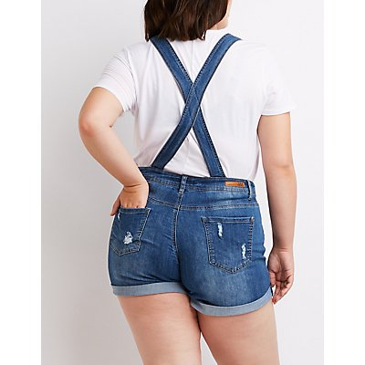 Plus Size Dollhouse Destroyed Overalls