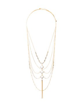Crystal & Marble Pendant Necklaces
