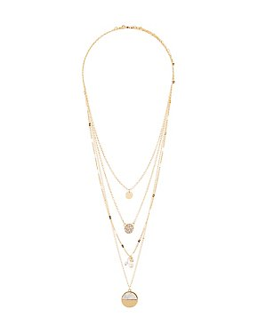 Layering Marble Embellished Necklaces