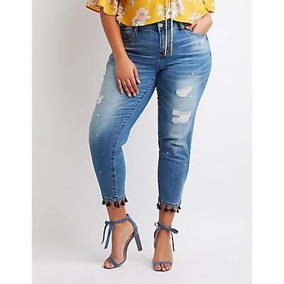 Plus Size Dollhouse Hi-Rise Skinny Jeans