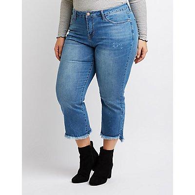 Plus Size Dollhouse Flared Hem Jeans