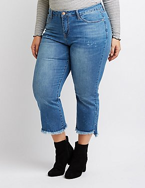 Plus Size Dollhouse Flared Hem Jeans