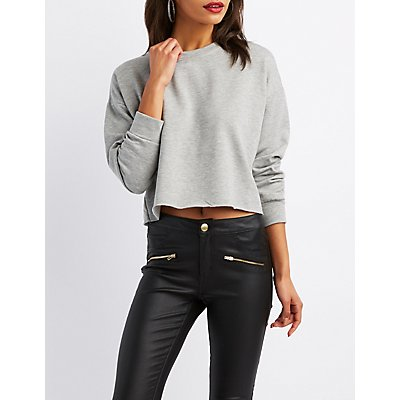 French Terry Crop Sweatshirt