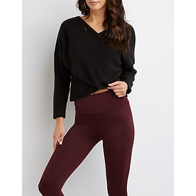 High Waist Stretch Leggings by Charlotte Russe