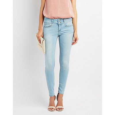 Push-Up Mid-Rise Skinny Jeans