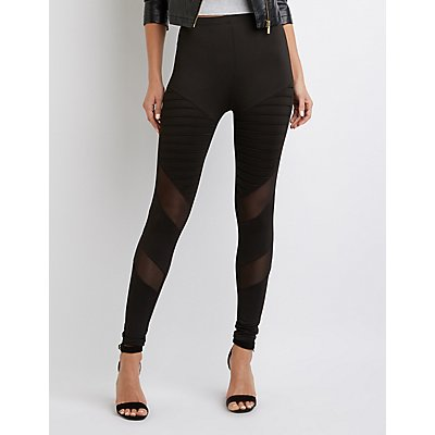 Mesh-Trim Leggings