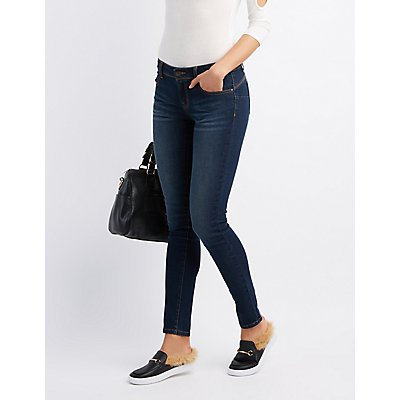 Mid Rise Push Up Skinny Jeans | Tuggl