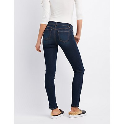 Mid-Rise Push-Up Skinny Jeans