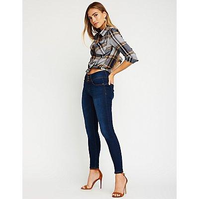 Hi-Rise Push-Up Skinny Jeans
